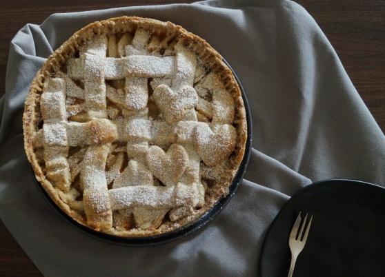 Herbstlicher Birnen-Mandel-Pie