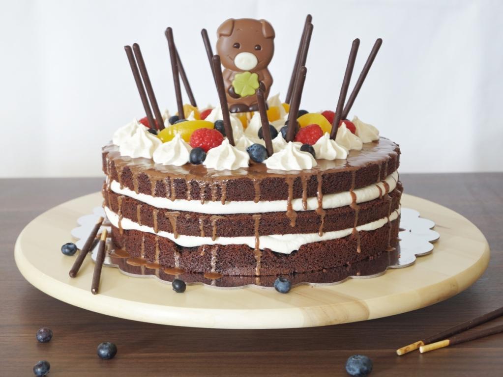 01_Schoko Obst Torte