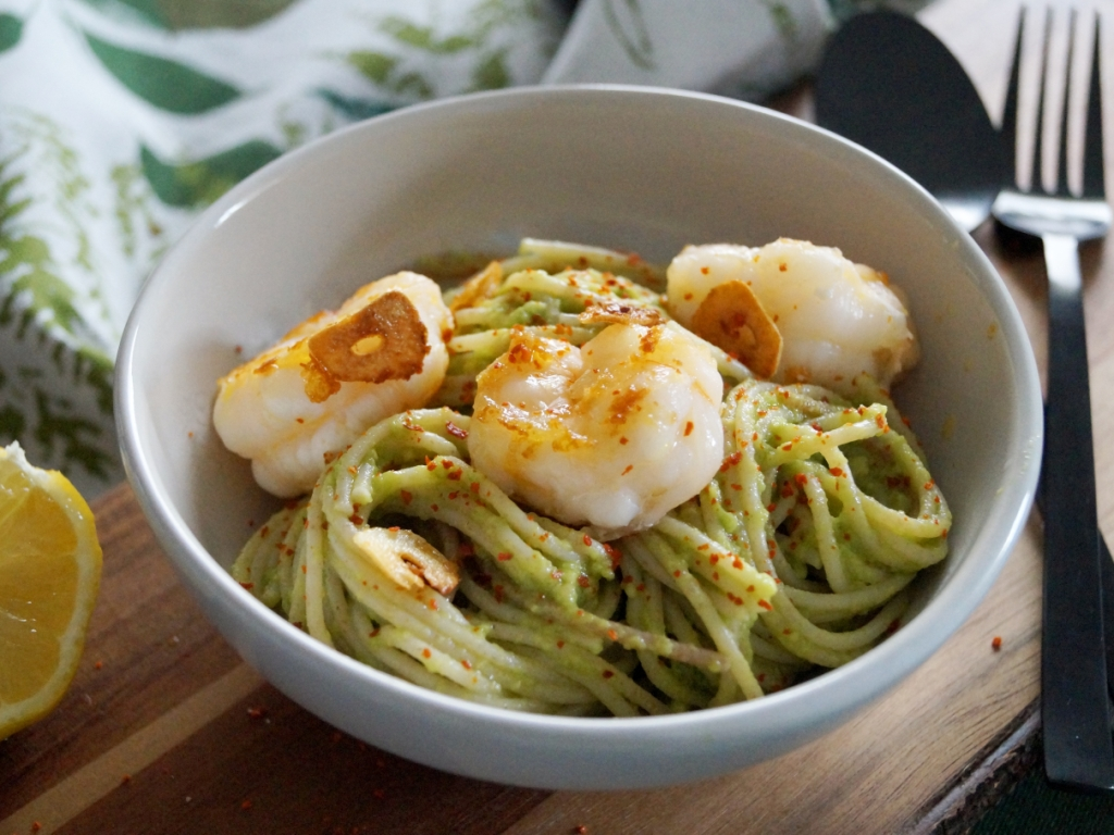 02_Pasta mit Avocado und Garnelen