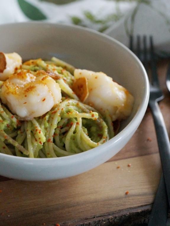 03_Pasta mit Avocado und Garnelen