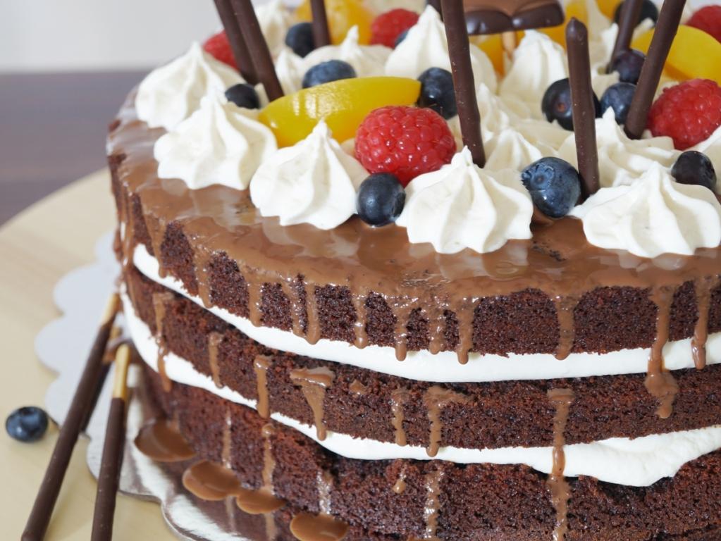 03_Schoko Obst Torte