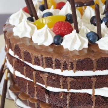 Schoko Obst Torte zum Muttertag