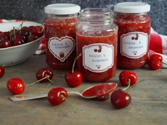 Kirsch-Rhabarber Marmelade