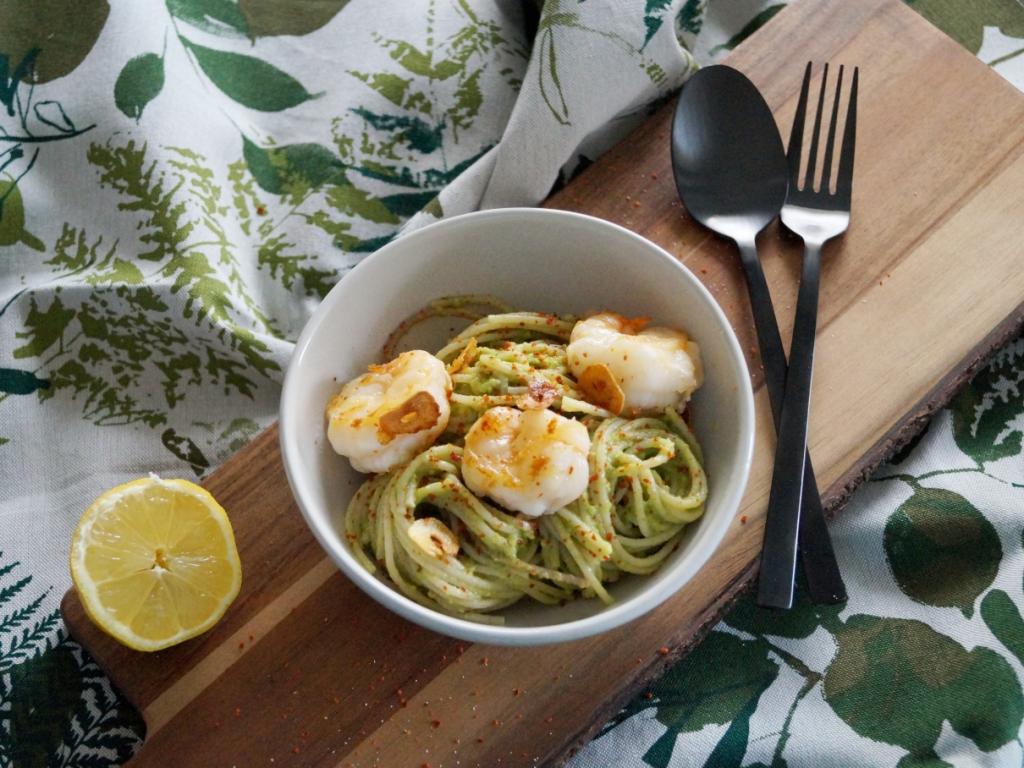 04_Pasta mit Avocado und Garnelen