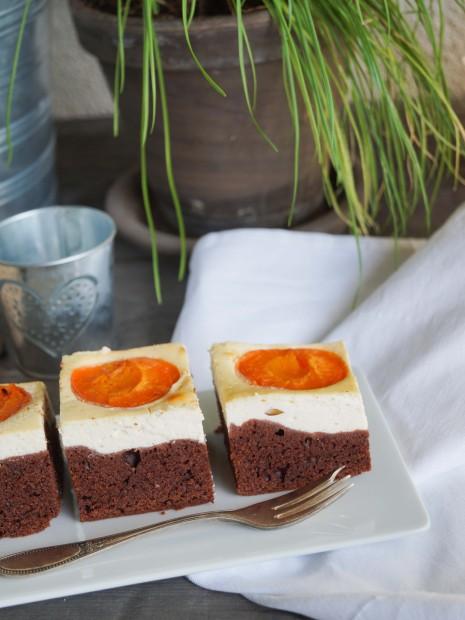 Schokoblechkuchen mit Marillen und Topfen (4 von 5)