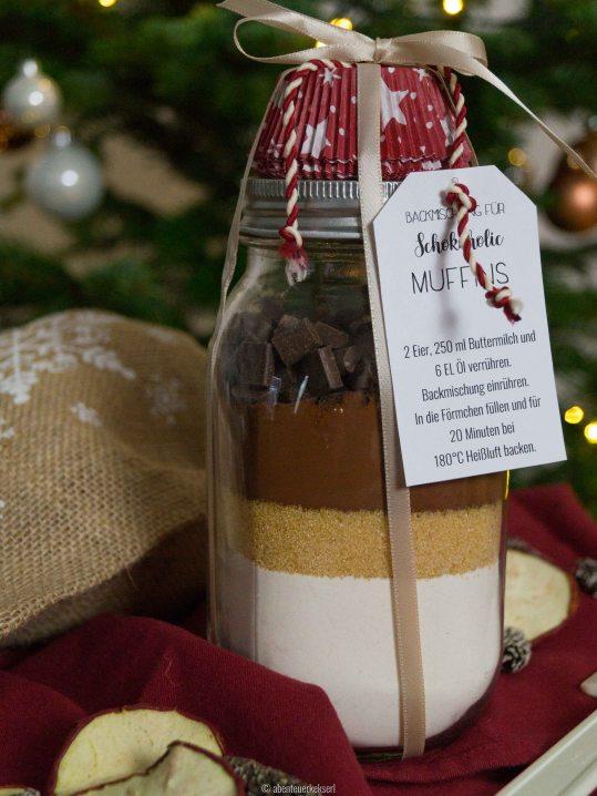 Weihnachtsgeschenke DIY: Backmischungen für Muffins