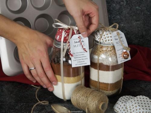 Leckere Weihnachtsgeschenke.Weihnachtsgeschenke Diy 2 Backmischungen Für Leckere Muffins