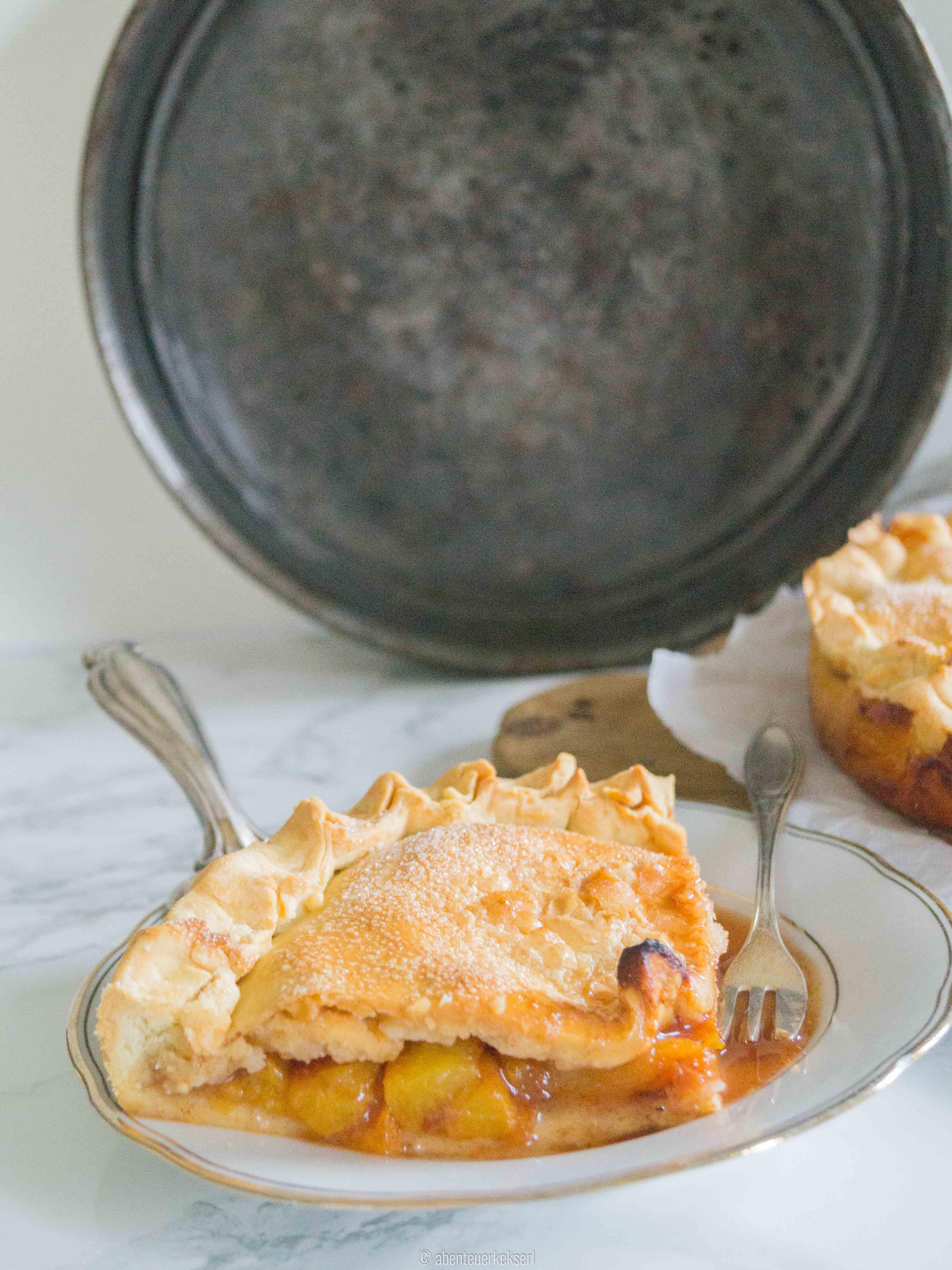 Amerikanischer Pfirsich Pie