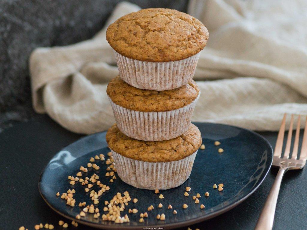 Buchweizen Muffins - ohne Weizen und ohne raffinierten Zucker