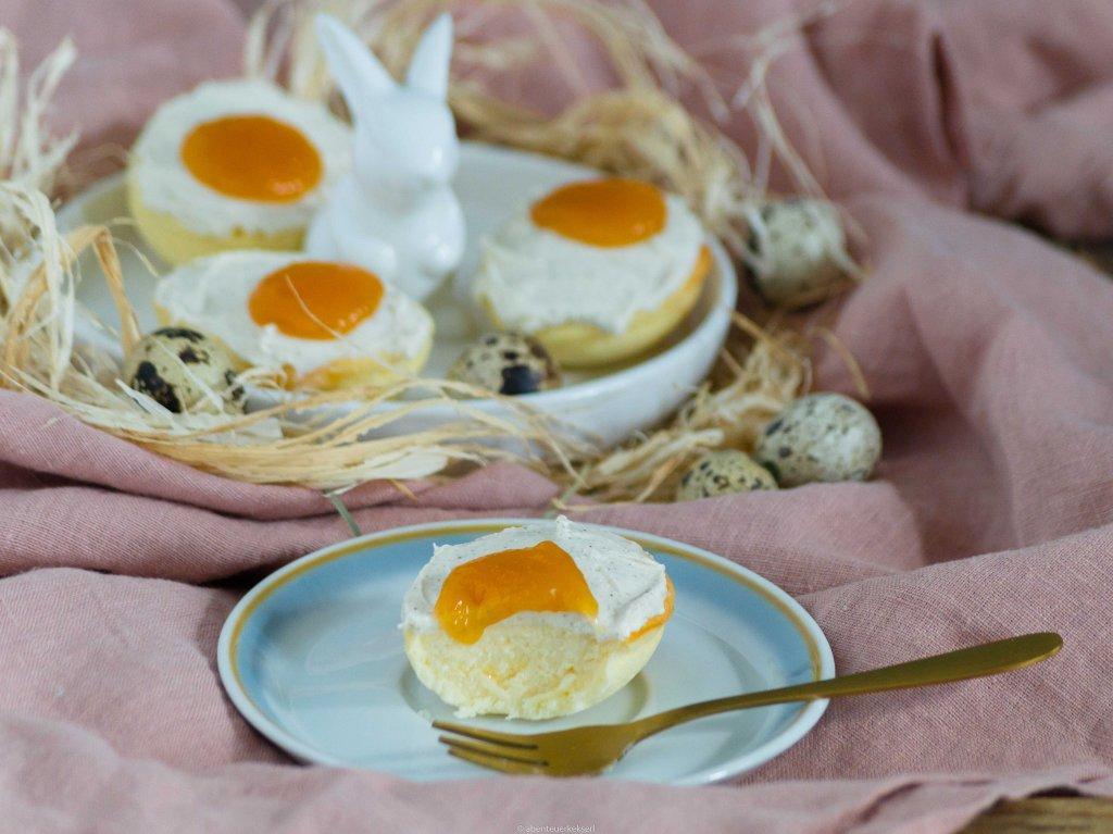 Cheesecake Eier mit Frischkäse und Marillenmarmelade // Käsekuchen für Ostern