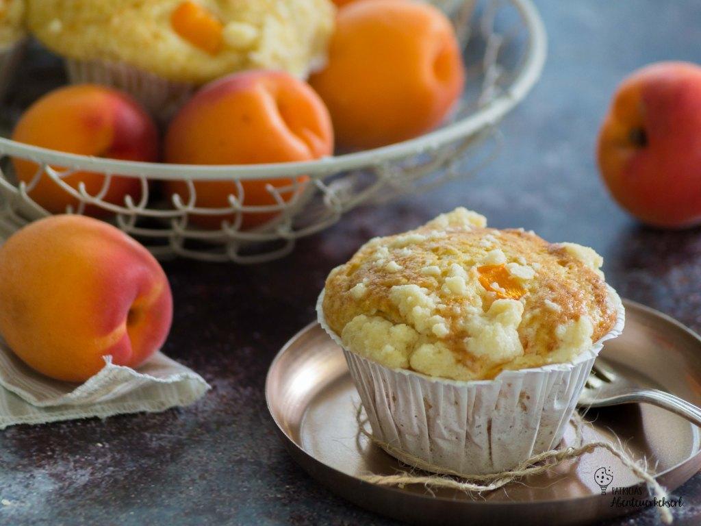 Marillenmuffins / Aprikosenmuffins mit Streuseln
