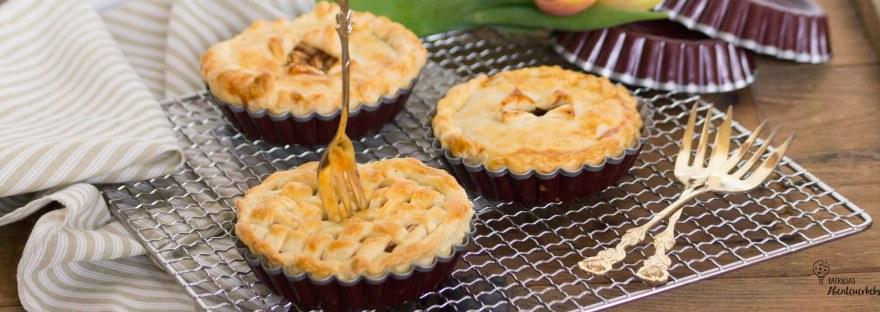 Mini Apple Pies - gedeckter Apfelkuchen
