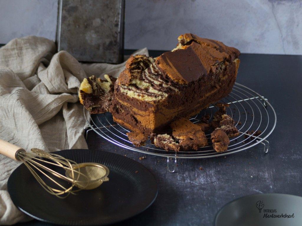zerbrochenen Kuchen retten - Marmorkuchen mit Nougatcreme