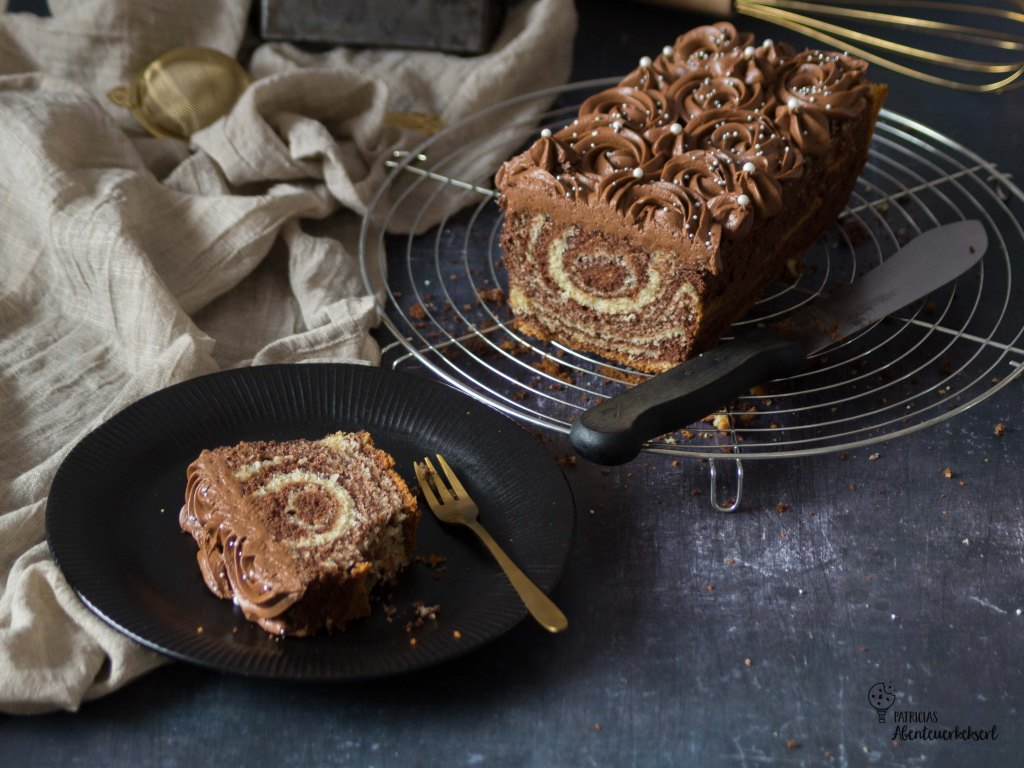 Kuchen retten: Marmorkuchen mit Nougatcreme