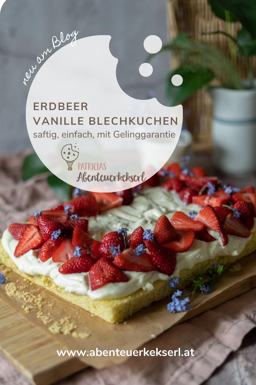 Pin Erdbeer Vanille Blechkuchen